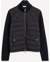 Moncler Panelled Wool-blend And Quilted Shell Down Jacket - Blue