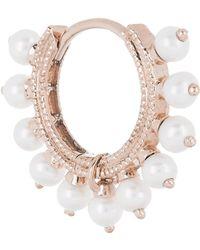 "Maria Tash 5/16"" Pearl Coronet Hoop Earring - Multicolour"