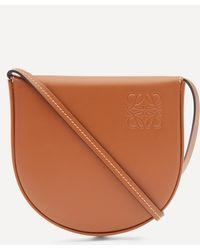 Loewe Heel Pouch Leather Shoulder Bag - Brown