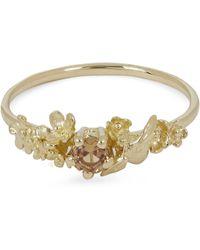 Alex Monroe - Gold Beekeeper Garden Orange Sapphire Ring - Lyst