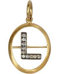 Annoushka 18ct Yellow-gold And Diamond K Pendant - Metallic