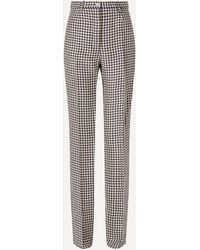 Giuliva Heritage Collection Houndstooth Linen Straight-leg Pants - Multicolor