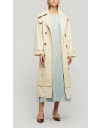 Rejina Pyo Gladys Faux Leather Trench Coat - Natural
