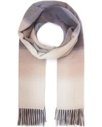 Johnstons - Cashmere Ombre Check Scarf - Lyst