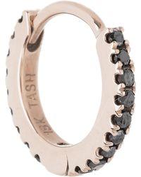 """Maria Tash 5/16"""" Black Diamond Eternity Hoop Earring - Multicolor"""