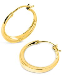 Dinny Hall - Small Gold-plated Signature Hoop Earrings - Lyst