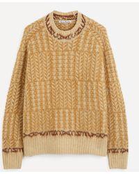 Acne Studios Oversized Shetland Wool Sweater - Multicolour