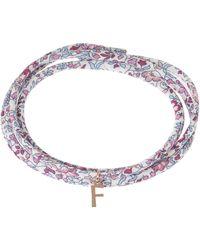 Liberty Katie And Millie Tana Lawntm Cotton Cord Bracelet - Purple