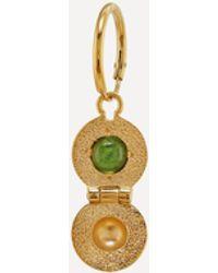 Alex Monroe X Raven Smith Gold-plated Cannonball Hidden Green Tourmaline Earring - Metallic