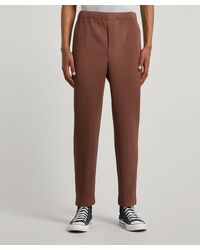 Homme Plissé Issey Miyake Tapered Pleated Trousers - Brown