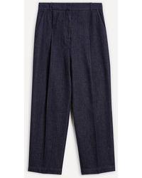 YMC - Market Indigo Denim Trousers - Lyst