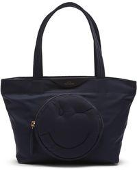 Anya Hindmarch Mini Chubby Wink Tote Bag - Blue