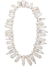 Stephen Dweck - Silver Baroque Pearl And White Quartz Necklace - Lyst