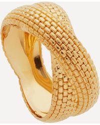 Monica Vinader X Doina Gold Plated Vermeil Silver Cross Ring - Metallic