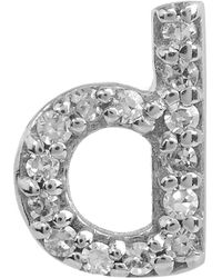KC Designs - Diamond D Stud Earring - Lyst