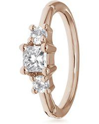 Maria Tash 2mm Diamond Princess Ring - Multicolour
