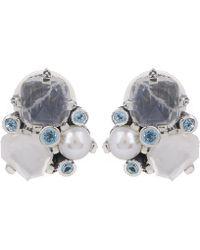 Stephen Dweck - Silver Multi-stone Cluster Clip-on Earrings - Lyst