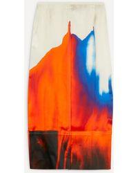 Colville Multi-dye Panelled Skirt - Orange