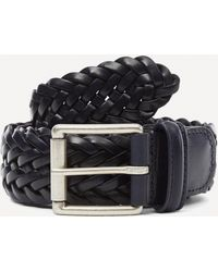 Andersons Woven Leather Belt - Blue