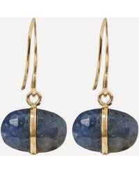 Melissa Joy Manning Gold And Blue Sapphire Drop Earrings - Metallic