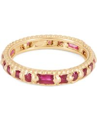 Polly Wales - Gold Ramona Rapunzel Mixed-cut Ruby Ring - Lyst