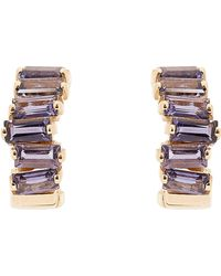 Suzanne Kalan - Gold Iolite Small Hoop Earrings - Lyst