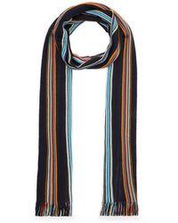 Missoni Multi-colour Stripe Scarf - Blue