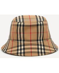 Burberry Vintage Check Cotton-blend Bucket Hat - Brown