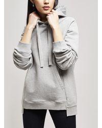 JOSEPH Molleton Jersey Oversize Hoodie - Grey