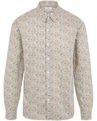 Liberty Katie And Millie Tana Lawn' Cotton Casual Classic Slim Fit Shirt - Blue