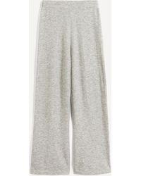 JOSEPH Cashmere-blend Wide-leg Pants - Gray