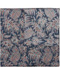 Liberty Paisley Cotton Neckerchief 58 X 58cm - Blue