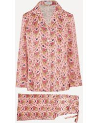 Liberty Sweet Thing Silk Charmeuse Pajama Set - Pink