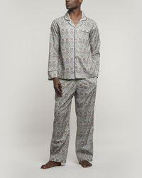 Liberty Mini May Tana Lawntm Cotton Long Pyjama Set - Blue