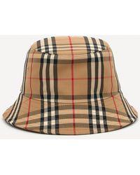 Burberry Vintage Check Cotton-blend Bucket Hat - Brown