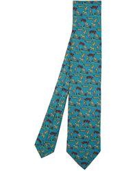 Drake's Safari Tie - Blue