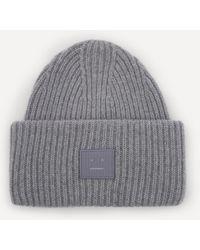 Acne Studios Wool Beanie Hat - Grey