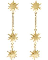 Lulu Frost - Gold-plated Orana Star Drop Earrings - Lyst