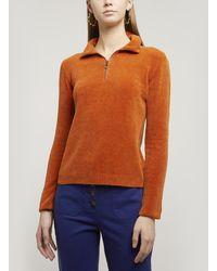 Paloma Wool Baco Half-zip V-neck Jumper - Brown