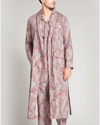 Liberty Felix And Isabelle Tana Lawn' Cotton Long Robe - Pink