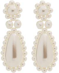 Simone Rocha - Faux Pearl Drop Earrings - Lyst