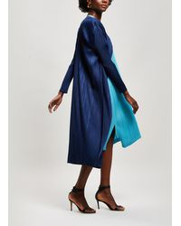 Pleats Please Issey Miyake Pleats Please Longline Coat - Blue