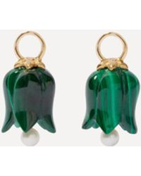 Annoushka 18ct Gold Malachite And Pearl Tulip Earring Drops - Metallic