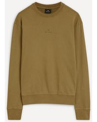 PS by Paul Smith Logo Cotton Jumper - Green