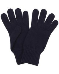 Johnstons Cashmere Gloves - Blue