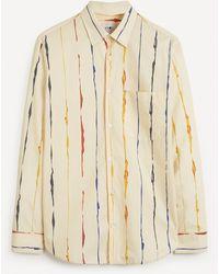 NN07 Errico 5218 Lyocell-linen Shirt - Natural