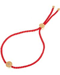 Monica Vinader Gold Vermeil Linear Solo Diamond Cord Friendship Bracelet - Metallic