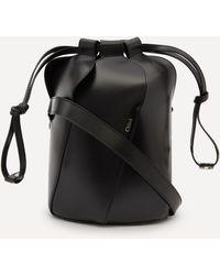 Chloé Tulip Small Leather Bucket Bag - Black