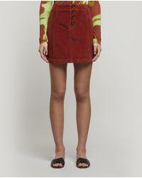 Paloma Wool Disco Stretch-cotton Corduroy Mini-skirt - Red