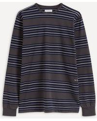Pop Trading Company Striped Long-sleeve T-shirt - Blue
